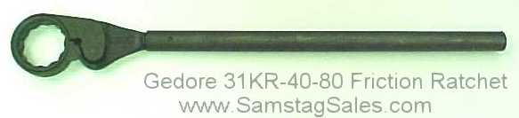 GEDORE 31 KR 30-60 Friction Type Ratchet with Ring 60 mm 6256980