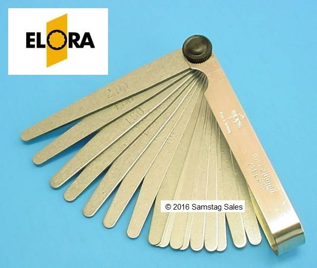 Elora 188 201M Metric Feeler Gauge. 21 Blades