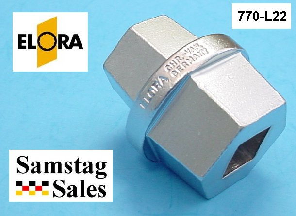 Elora 770-L22 socket for drain plug on coterpillar vehicles