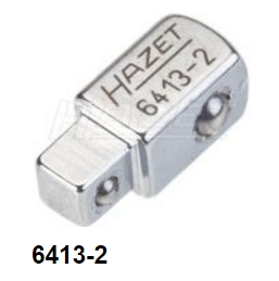 """Hazet 6413-2 Male Square Driver, 3/8"""" to 1/4"""" drive, 22mm long"""