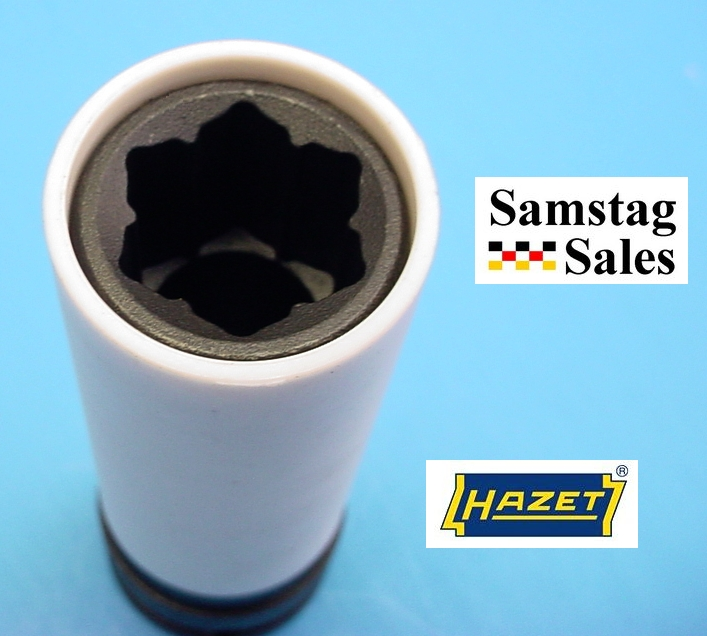 Hazet 905SLG-17 Deep Lug Nut Socket with                       Special Convex Pattern for Mercedes GLK