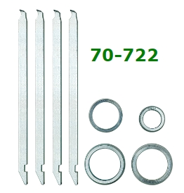 Kukko 70-722 Four Arms and Four Spacer Rings