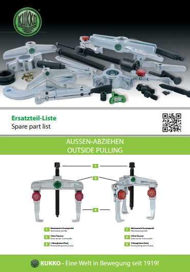 KUKKO Spare Parts Catalog Download