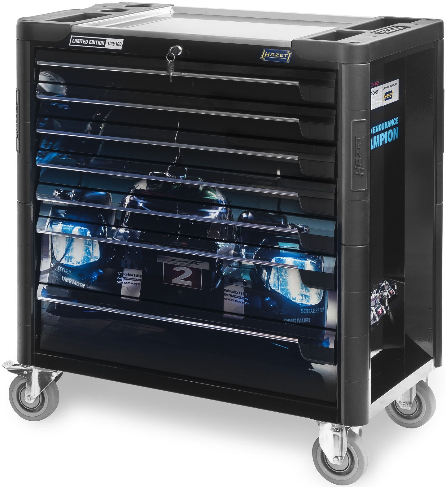 Hazet 179XL-7PDB Limited Editon Porsche Motorsport Tool Trolley Black by Hazet of Germany