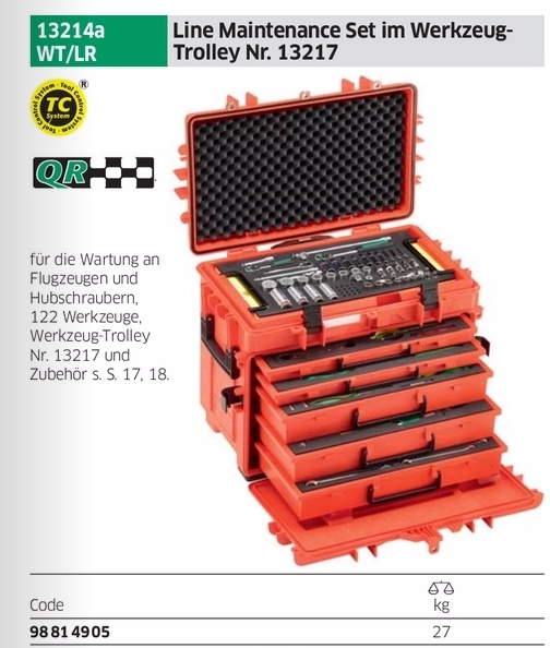 Stahlwille 13214 WT/LR Line Maintenance Set    in Tool Trolley
