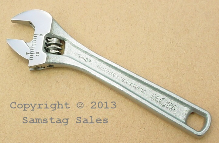 Elora 60-4MB Adjustable Wrench for bolts and nuts with square or a hexagon pattern