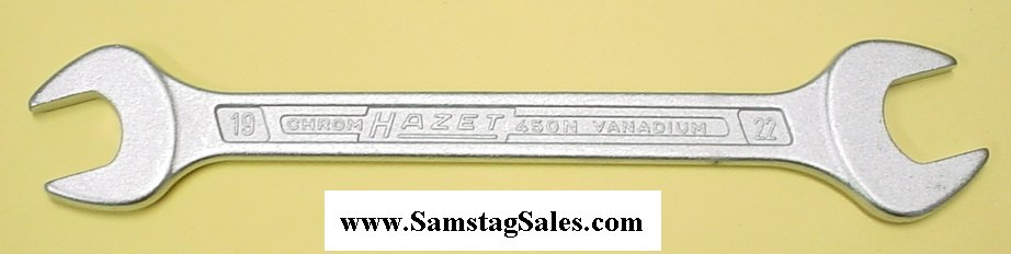 Hazet 450N-19x22 Double Open End Wrench 237.5mm long