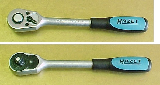 "Hazet 8816S Ratchet 3/8"" drive, reversible with locking device and quick release button"