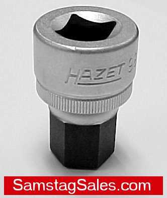 "Hazet 985-17 Oil Service Socket 17mm hex key, 1/2"" drive"