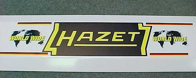 Hazet Sign 39 inches long