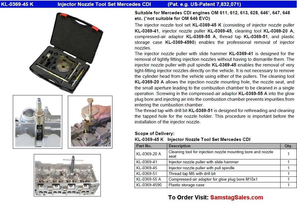 KL-0369-45 K Injector Nozzle Puller Set