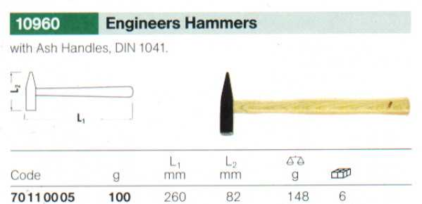 Stahlwille 10960-100 Engineer's Hammer