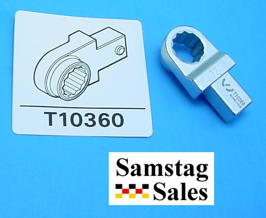 Volkswagen T10360 Special 12mm Torque Wrench                       Insert Ring