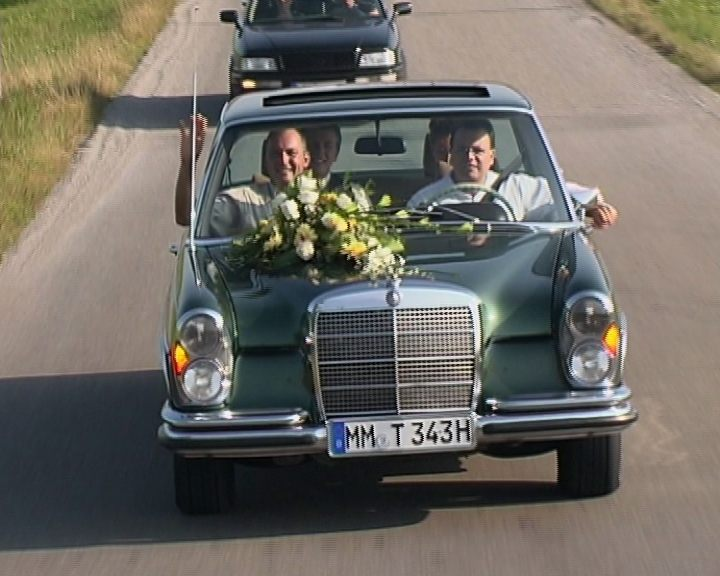 Driving a W109 Mercedes in Germany