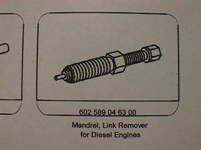 602 589 04 63 00 Mandrel Link Remover for Diesel