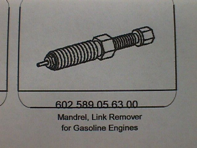 602 589 05 63 00 Mandrel Link Remover for Gas Engines