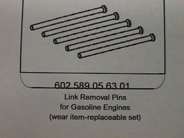 602 589 05 63 01 Link Removal Pins for Gas Engines