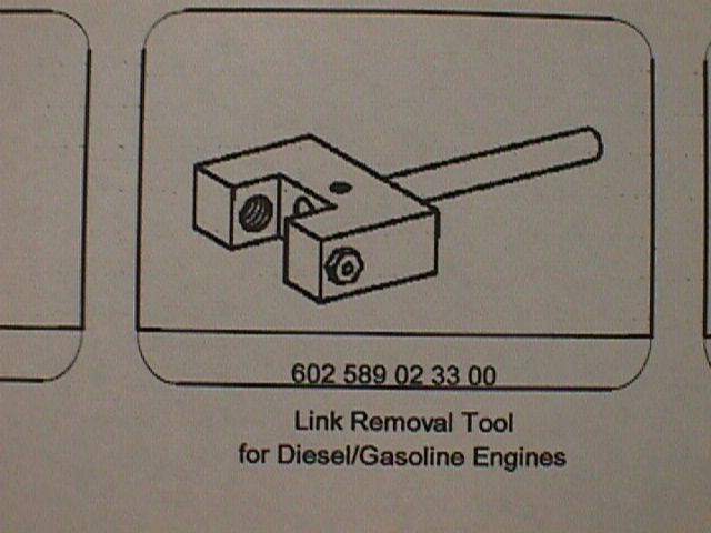 602 589 02 33 00 Link Removal Tool Diesel and Gas