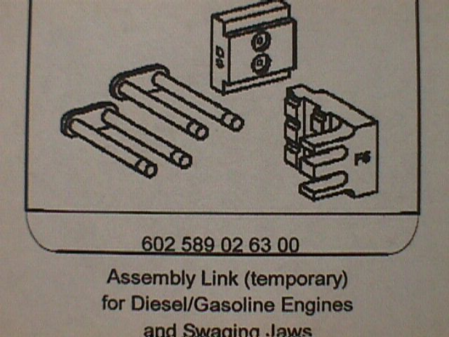 602 589 02 63 00 Temporary Assembly Link for Diesel and Gas