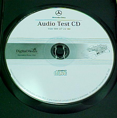 Mercedes 900 589 07 22 00 Audio Test CD