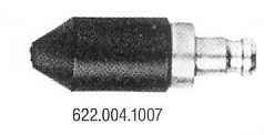 MotoMeter 622 004 1007 Rubber cone with socket